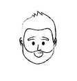 figure avatar man head to social user vector image