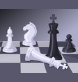 final of chess game checkmate on chess board vector image