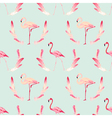 Flamingo Bird Background Retro Seamless Pattern