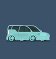 flat future car isolated on color background vector image vector image