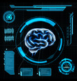 futuristic hud interface vector image vector image