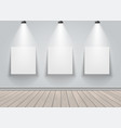 gallery exhibition interior vector image vector image