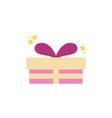 gift present celebration party line fill design vector image vector image