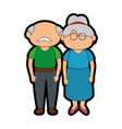 grandparents couple design vector image vector image