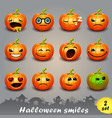halloween smiles-set 2 vector image vector image