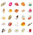 harmful food icons set isometric style vector image vector image