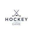 hockey game logo design template vector image vector image