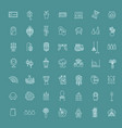 home decoration thin line icons vector image vector image