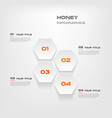 honeycombs gradient infographics step step vector image