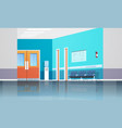 hospital corridor waiting hall with information vector image vector image