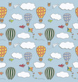 hot air baloons seamless pattern vector image