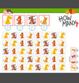 how many dogs counting game for kids vector image vector image