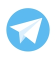 icon paper plane white plane on a blue vector image