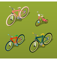Isometric Bicycle City Bicycle Children Bicycle vector image vector image