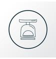 kitchen scales icon line symbol premium quality vector image
