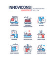 logistics - colorful line design style icons set vector image