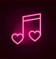 love music neon sign vector image