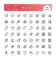 Meat Line Icons Set vector image vector image