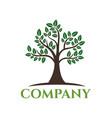 modern tree logo vector image vector image
