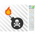 mortal bomb flat icon with bonus vector image vector image
