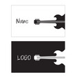 name card guitar background image vector image vector image
