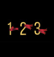 number 1 2 3 set vector image