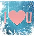 Paper Inscription I love U with Heart vector image