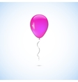 Pink balloon isolated on white background vector image vector image