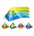 Pyramid chart templates vector image vector image