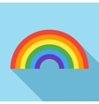 Rainbow icon in flat style vector image