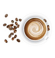 realistic coffee cup on vector image vector image