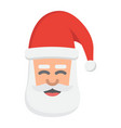 santa claus face flat icon new year and christmas vector image