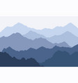scenic panorama with foggy mountains vector image vector image