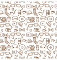 seamless hipster pattern in white color vector image vector image