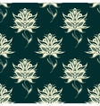 Seamless pattern paisley flowers on twining stems vector image vector image