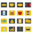 shop navigation foods icons set in flat style vector image vector image