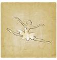 sketch jumping ballet dancer vintage background vector image