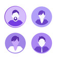 social network icons people vector image