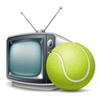 tennis channel vector image vector image