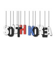 the word south korea hang on the ropes vector image