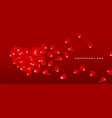 valentines day red rose petals heart shape vector image vector image