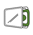 wallet with money isolate icon vector image