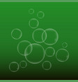 water babble on green background vector image
