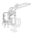 wire-frame industrial equipment of oil pump vector image vector image