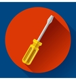 Yellow screwdriver icon - repair and service vector image vector image