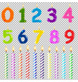 birthday candles of different form vector image