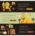 Flat design Egypt travel banners set with famous vector image