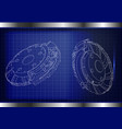 3d model of the brake disc vector image vector image