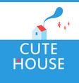a cute house advertisement poster vector image vector image
