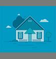 a dutch house vector image vector image
